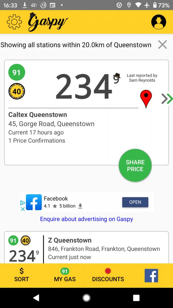 Gaspy travel app screenshot 2