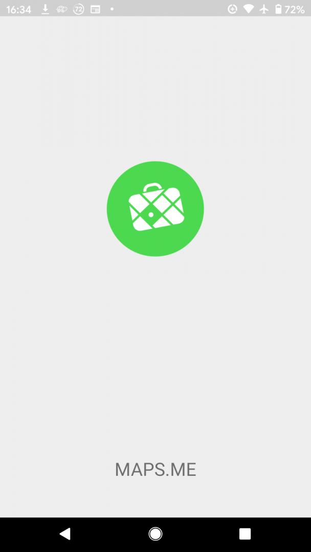 Maps.Me loading screenshot