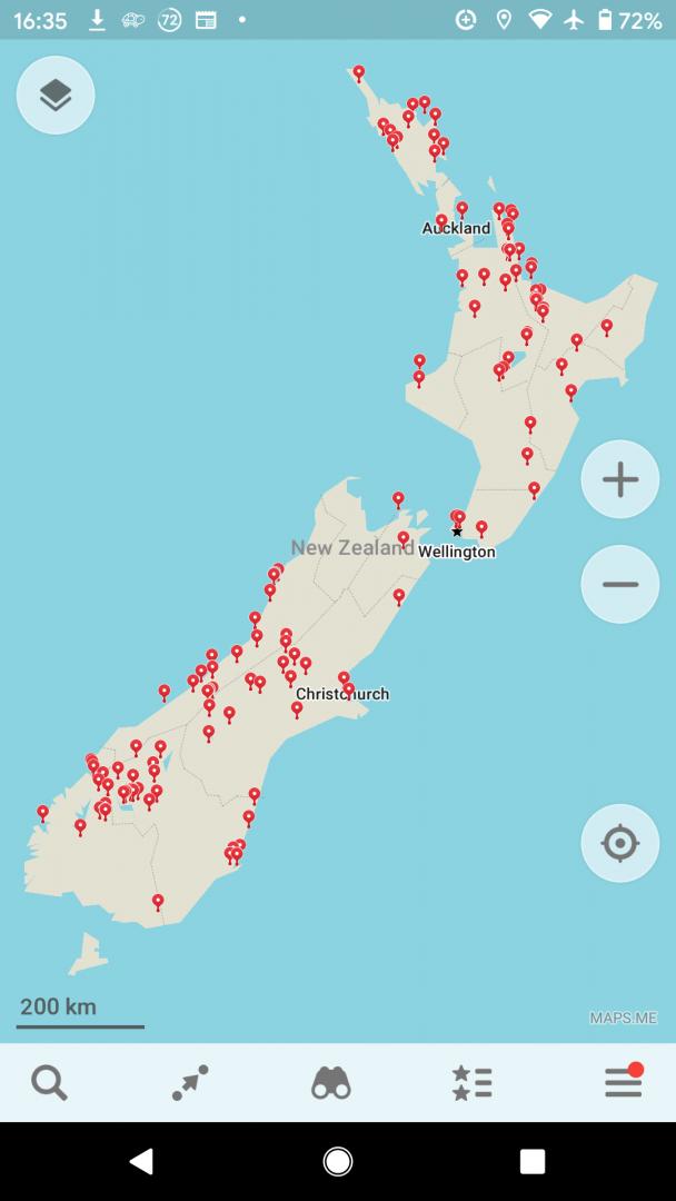 Maps.Me travel app screenshot