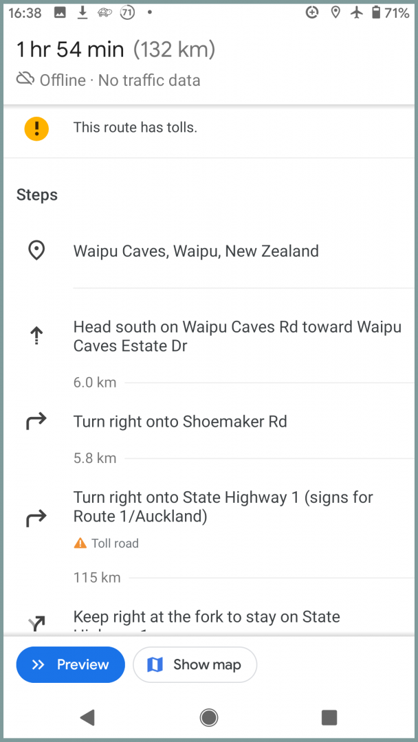 Google maps travel app for new zealand navigation directions